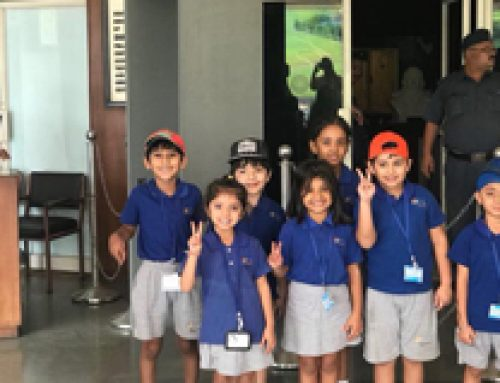 Our kids off to their field trip to Nehru Planetarium