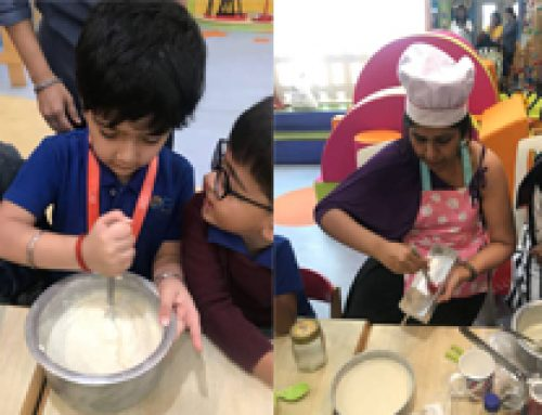 Parents and Our Children being a part of Cake Baking Event -OESIS