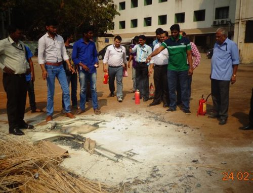 Fire safety drill was conducted in OCP