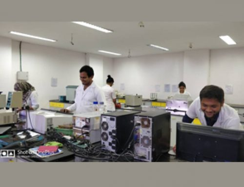 M.Pharm -II students  performing Research work in instrument lab. | HKCP