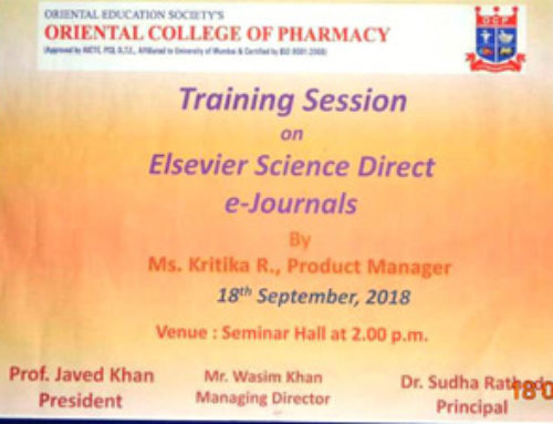 Training session on Elsevier Science Direct e-journals was conducted in the seminar hall | OCP