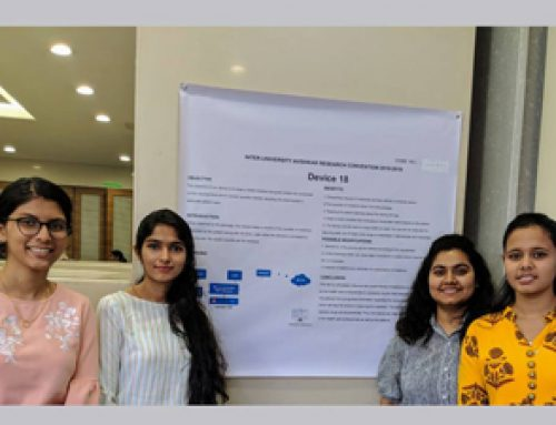 Second Year Students,Preksha Patil, Bhakti Kubal, Maanvi Kalia, Tanushree Shenoy, Got first prize in Inter university Avishkar Convention 2018-19. | HKCP